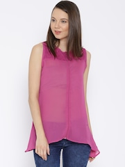 SPYKAR Pink Sheer Top