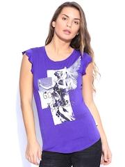 SPYKAR Purple Printed Top