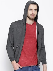 Cloak & Decker by Monte Carlo Grey Melange Hooded Sweatshirt