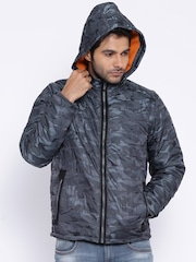 Pepe Jeans Charcoal Grey Camouflage Print Padded Jacket