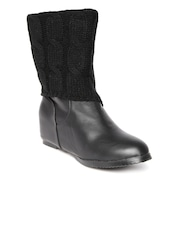 Roadster Women Black Heeled Boots