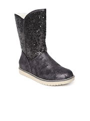 Roadster Women Black Sequinned Boots