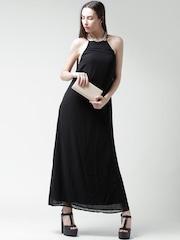 FOREVER 21 Black Polyester Maxi Dress