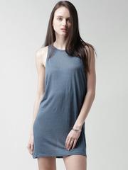FOREVER 21 Blue Linen Shift Dress