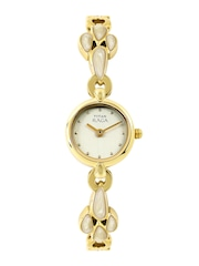 Titan Raga Women Muted Gold-Toned Dial Watch 2444YM10