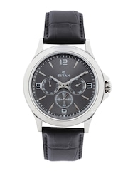 Titan Men Gunmetal-Toned Dial Watch 1698SL02