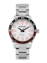 Superdry Men White Dial Retro Sport Watch SYG143SM