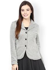 The Vanca Grey Printed Jacket