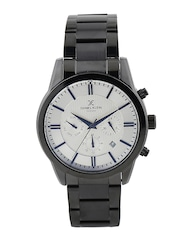 Daniel Klein Exclusive Men Silver-Toned Multifunction Dial Watch DK10717-3