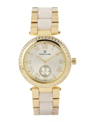 Daniel Klein Premium Women Gold-Toned Dial Watch DK10801-6