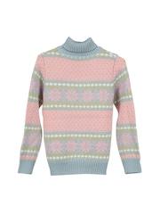 Lilliput Girls Pink Patterned Sweater