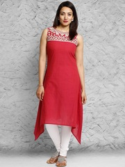 by Shraddha Kapoor Red Lippan Kurta