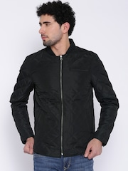 Flying Machine Black Quilted Jacket