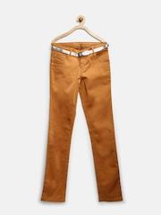 Gini & Jony Girls Brown Trousers