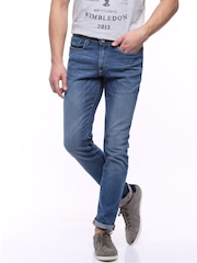 Allen Solly Blue Tapered Fit Jeans
