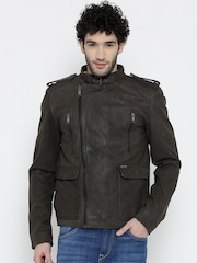 BARESKIN Dark Brown Leather Jacket