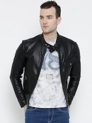 BARESKIN Black Leather Biker Jacket