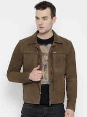 BARESKIN Brown Suede Leather Jacket