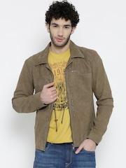 BARESKIN Khaki Leather Jacket