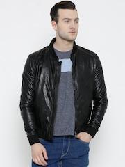 BARESKIN Black Leather Jacket