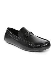 San Frissco Men Black Glossy Leather Loafers