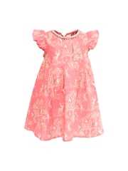 A Little Fable Girls Pink Printed A-Line Dress