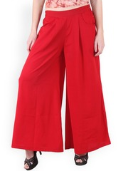 Ruhaans Red Palazzo Trousers