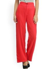 Cottinfab Red Palazzo Trousers
