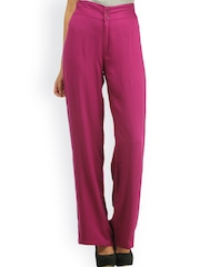 Cottinfab Purple Plazzo Trousers