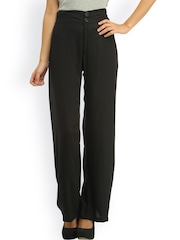 Cottinfab Black Plazzo Trousers