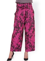 Oxolloxo Pink Printed Pleated Trousers