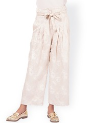 Oxolloxo Off-White Lace Pleated Trousers