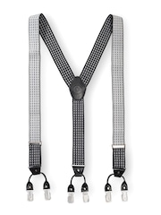 The Tie Hub Men Black & White Suspenders