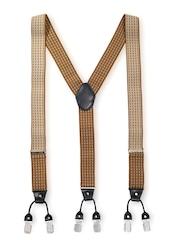 The Tie Hub Men Brown Suspenders