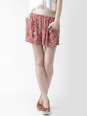 FOREVER 21 Rust Red Printed Shorts