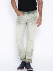 Jack & Jones Blue Tim Slim Fit Low-Rise Jeans