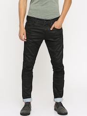 Jack & Jones Men Black Slim Fit Low-Rise Jeans