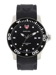 Swiss Eagle Men Black Dial Watch SE-9002-02
