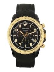 Swiss Eagle Men Black Dial Chronograph Watch SE-9044-05