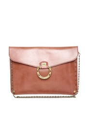 The Riders Side Brown Horse Shoe Leather Clutch