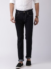 HRX by Hrithik Roshan Navy Tapered Fit Jeans