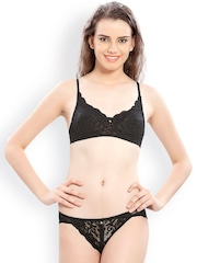 Lady Love Black Lace Lingerie Set LLSET4043