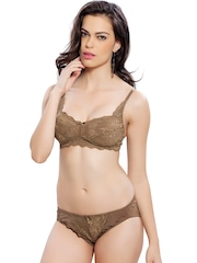 Lady Love Brown Lace Lingerie Set LLSET4068