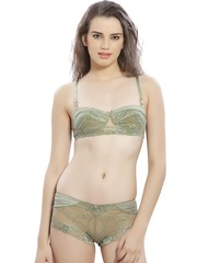 Lady Love Olive Green Lace Lingerie Set LLSET4070