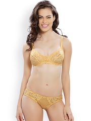 Lady Love Yellow Lace Lingerie Set LLSET4072