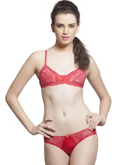 Lady Love Red Lace Lingerie Set LLSET4072