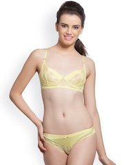 Lady Love Yellow Lace Lingerie Set LLSET4075