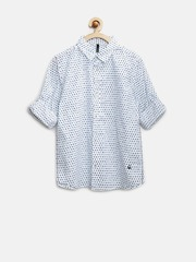 United Colors of Benetton Boys White Dot Print Shirt