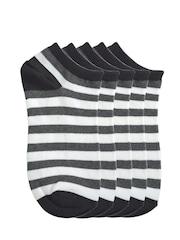 Tossido Men Set of 5 Striped Ankle-Length Socks