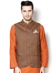 even Brown Nehru Jacket